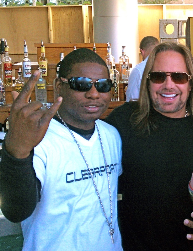 Markee Djordan with Vince Neil of Motley Cru